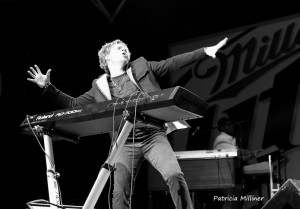 Brian Culbertson brought boundless energy to the stage at African World Festival.