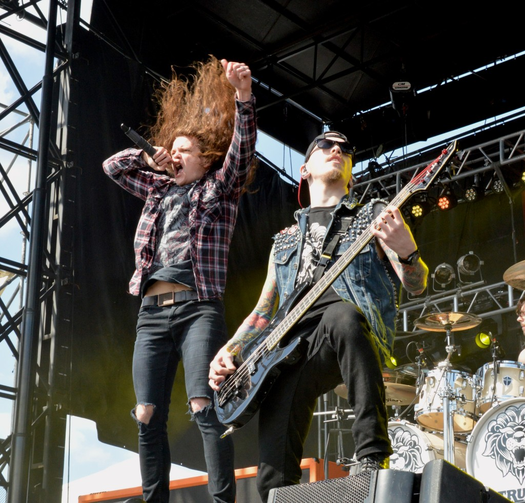 Miss May I's Levi Benton and Ryan Neff performing at 2014 Rock on the Range Photo Credit: Kelsi Rupersburg