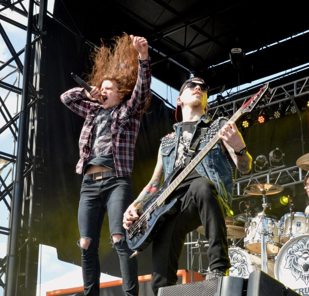 Miss May I's Levi Benton and Ryan Neff performing at 2014 Rock on the Range Photo Credit: Kelsi Rupersburg